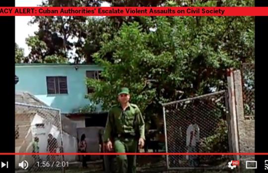 September 23, 2016: Cuban Authorities' Escalate Violent Assaults on Civil Society